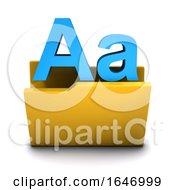 3d Alphabet Folder Icon