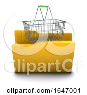 3d Shopping Folder Icon