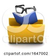 3d Reading Folder Icon