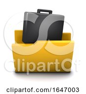 3d Business Folder Icon