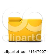 3d Empty Closed Folder Icon