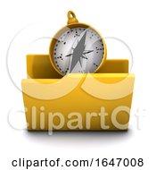 3d Compass Navigation Folder Icon
