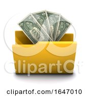 3d Money Folder Icon