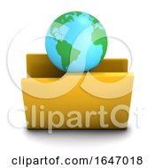 3d Globe Of The Earth Symbol Folder Icon