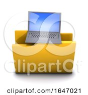 3d Laptop Computer Symbol Folder Icon