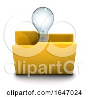 3d Lightbulb Symbol Folder Icon