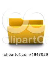 3d Empty Folder Symbol Folder Icon
