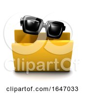 3d Sunglasses Symbol Folder Icon