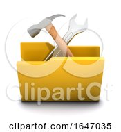 Poster, Art Print Of 3d Tools Folder Icon