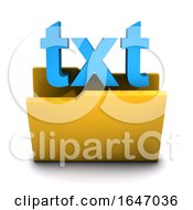 3d Text Symbol Folder Icon by Steve Young