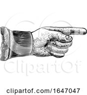 Poster, Art Print Of Hand Pointing Direction Finger Engraving Woodcut