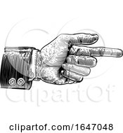 Poster, Art Print Of Hand Pointing Finger Direction In Business Suit