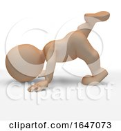 3D Morph Man In Yoga Pose