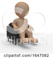 Poster, Art Print Of 3d Morph Man Relaxing In Armchair