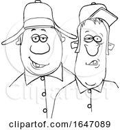 Cartoon Black And White Redneck Hillbilly Men