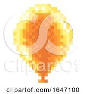 Poster, Art Print Of Arcade Video Game Pixel Art 8 Bit Balloon Icon