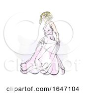 Poster, Art Print Of Sketched Bride