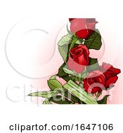 Poster, Art Print Of Red Rose Background
