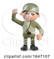 3d Army Soldier Character Waving Hello by Steve Young