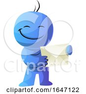 Blue Cartoon Man Holding An Envelope by Morphart Creations