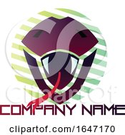 Purple Snake Logo Design With Sample Text