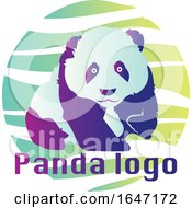 Panda Logo Design With Sample Text