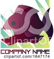 Piranha Logo Design With Sample Text