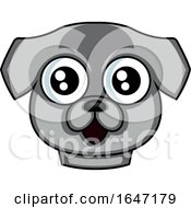 Poster, Art Print Of Happy Gray Dog Face