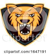 Roaring Wolf Mascot Shield Logo