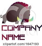 Wild Boar Logo Design With Sample Text