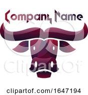 Purple Buffalo Logo Design With Sample Text