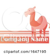 Pink Camel Logo Design With Sample Text