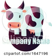 Dairy Cow Logo Design With Sample Text