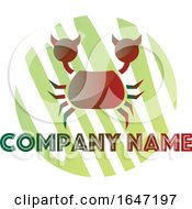 Crab Logo Design With Sample Text
