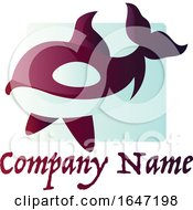 Killer Whale Logo Design With Sample Text