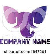 Purple Elephant Logo Design With Sample Text