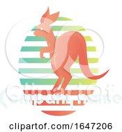 Kangaroo Logo Design With Sample Text