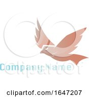 Flying Eagle Logo Design With Sample Text