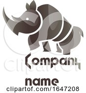 Poster, Art Print Of Rhino Logo Design With Sample Text