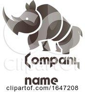 Rhino Logo Design With Sample Text