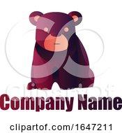 Purple Bear Logo Design With Sample Text
