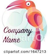 Parrot Bird Logo Design With Sample Text