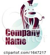 Zebra Logo Design With Sample Text