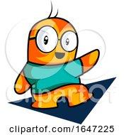 Orange Monster Presenting Or Waving by Morphart Creations