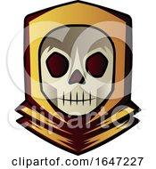 Poster, Art Print Of Skull Wearing A Hoody