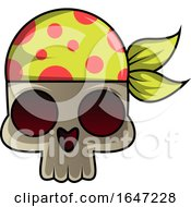 Poster, Art Print Of Skull Wearing A Bandana