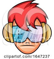Cool Red Haired Boy Wearing Futuristic Glasses