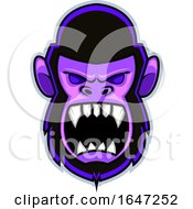 Angry Yelling Gorilla Face Logo