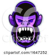 Angry Yelling Gorilla Face Logo