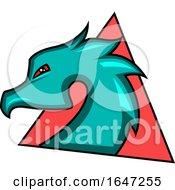 Poster, Art Print Of Profiled Dragon Head Logo
